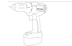 cord less drill Free Dxf for CNC