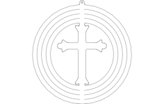 spinner-cross Free Dxf for CNC