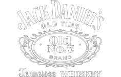 jack daniel's tennessee whiskey logo Free Dxf for CNC
