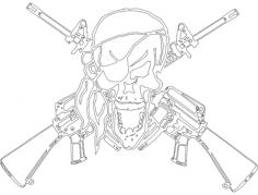 arfcom skull ar2nd Free Dxf for CNC