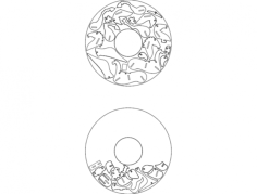 nested pegasus Free Dxf for CNC