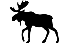alce (moose) 4 Free Dxf for CNC