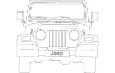 jeep front Free Dxf for CNC