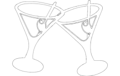 martini drink Free Dxf for CNC