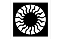 rosette Free Dxf for CNC