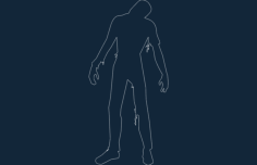 zombie silhouette Free Dxf for CNC