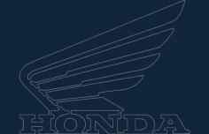 honda motorcycle wing logo Free Dxf for CNC