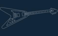 guitars flying v Free Dxf for CNC