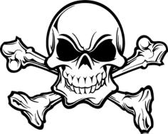 skull 666 Free Dxf for CNC
