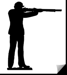 soldier with rifle – firing Free Dxf for CNC