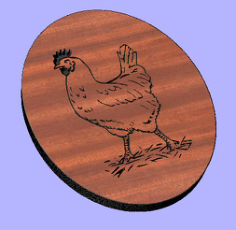 hen Free Dxf for CNC