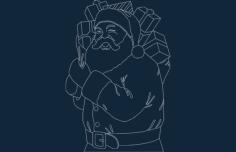 Santa Large dxf File Format