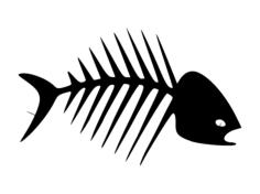 fish bones Free Dxf for CNC