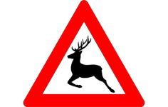 deer crossing sign Free Dxf for CNC
