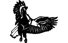 eagle flying Free Dxf for CNC