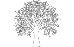 tree of life outline Free Dxf for CNC
