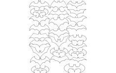 batman logo Free Dxf for CNC