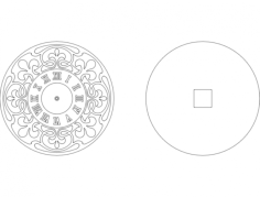 clock face-3 Free Dxf for CNC