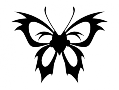 butterfly 07 Free Dxf for CNC