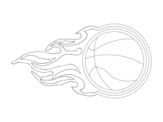 flame basketball Free Dxf for CNC