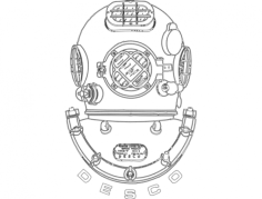 dive helmet Free Dxf for CNC