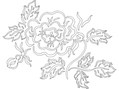 Flower 2 dxf File for CNC