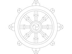 Dharmawheel Free Dxf for CNC