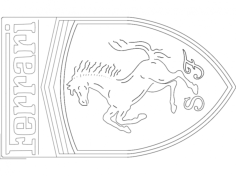 Ferrari Logo Free Dxf for CNC