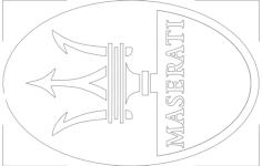 maserati Free Dxf for CNC