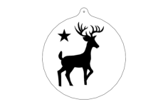 deer-ornFree Dxf for CNC