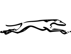 grey hound Free Dxf for CNC