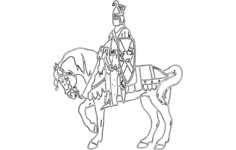 knight on horse Free Dxf for CNC