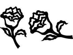flower Free Dxf for CNC