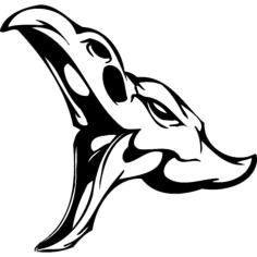 skull 010 Free Dxf for CNC