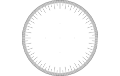 360 wheel Free Dxf for CNC