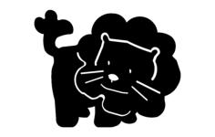 lion cartoon Free Dxf for CNC