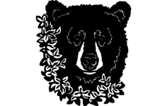 bear flower Free Dxf for CNC