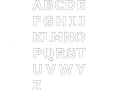 alphabet max7 Free Dxf for CNC