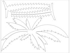 palme 1 Free Dxf for CNC