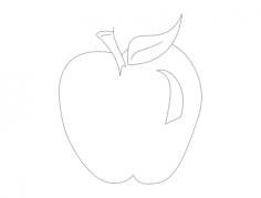 apple Free Dxf for CNC