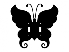 butterfly 2 switch plate Free Dxf for CNC