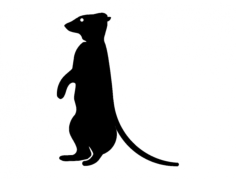 meerkat silhouette Free Dxf for CNC