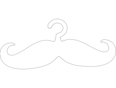 cabide bigode hanger mustache Free Dxf for CNC