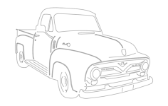 55 ford pu Free Dxf for CNC