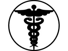 nurse emblem Free Dxf for CNC