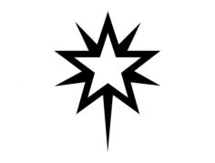 starburst 1 wt Free Dxf for CNC