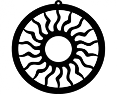design sun ornament 173 Free Dxf for CNC