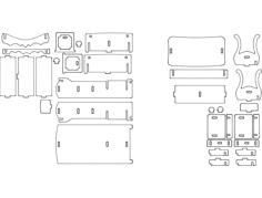 cama e mesa 3d Free Dxf for CNC