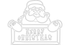 merry christmas vector Free Dxf for CNC