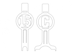 bat holders Free Dxf for CNC